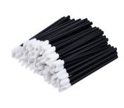 Qingsun 100 Pcs Disposable Lip Gloss Brush Applicators Lipstick Wands Makeup Tool Set