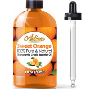 Artizen Sweet Orange Essential Oil (100% PURE & NATURAL - UNDILUTED) Therapeutic Grade - Huge 30ml Bottle - Perfect for Aromatherapy, Relaxation, Skin Therapy & More!