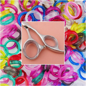 Barber Hairdressing Shears Scissors Finger Rings Grips Inserts 5 sets