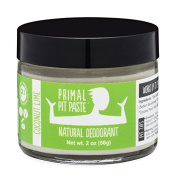 PRIMAL PIT PASTE All Natural Coconut Lime Deodorant | 60ml Jar | NO Aluminium, NO Parabens | For Women and Men of All Ages | Non-GMO, Cruelty Free, Earth Friendly, BPA Free
