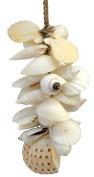 Tassel of White Shells Seashells on Rope Hanger 28cm Long