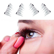 Magnetic Lashes , NEW Ultra-thin Eye Lashes 7mm ,3D Mink Reusable (Black)
