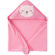 Hooded Baby Towels, 2 Towel Sets - Each Featuring Cute Animal Graphics, Unisex Towel - Boy or Girl, Large Size (70cm x 70cm )