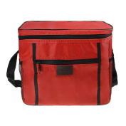 Large Capacity Insulated Cooler Bag Foldable Picnic Bag Oxford Fabric Lunch Box with Shoulder Strap for Camping, Fishing, Travel, Outdoor Picnic, Events, Beach, Car