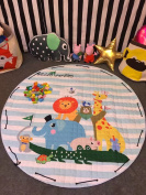 Portable Cotton Play Mat & Toy Organiser - Soft, Foldable, Washable & Cute
