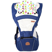 ThreeH Ergonomic Baby Carrier Hoodie with Hip Seat For Infants Toodlers BC04,Navy