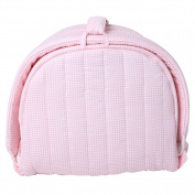 Labebe Baby 2 in 1 FOLD & GO Foldable Travel Bed/Bassinet Convertible to Nappy Changing MAT for Infants up to 1 Year, Washable Cover, Space Saving and Ideal Birthday Gift - Pink Grid