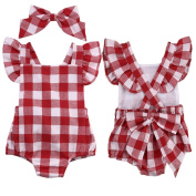 Girls Clothes Odeer 2017 Newborn Baby Girl Cotton Bowknot Clothes Bodysuit Romper Jumpsuit Outfit Set : 0/3 Month)