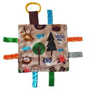 Lovey Chew Blanket Crinkle Toy Tag Square Sensory by Baby Jack