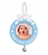 Tiny Ideas Baby's First Christmas Ornament, Blue