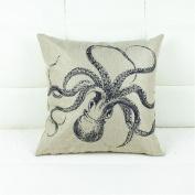 Botrong Happy Halloween Pillow Cases Linen Sofa Cushion Cover Home Decor 46cm x 46cm
