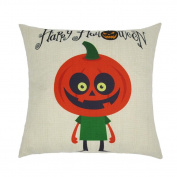 TOPUNDER Happy Halloween Linen Throw Pillow Case Cushion Cover Home Sofa Decor New A