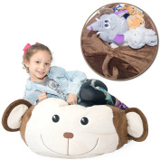 Stuffed Animal Storage Bag Doubles As a Comfy Chair. Replace Your Mesh Toy Hammock or Net with our Plush Monkey Organiser that's Functional & Fun.