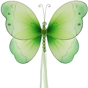 The Butterfly Grove Briana Mesh/Nylon 3D Hanging Decoration, Green Honeydew, Small/13cm X 10cm