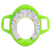 MonkeyJack Travel Potty Training Seat with Soft Protected Pad Cover for Babies Toddlers - Green, 4041cm