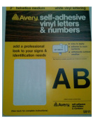 Emco-Avery, 5911-Old, 5.1cm Helvetica,Medium, White Vinyl Lettering, Self Adhesive, Letters & Numbers