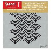 Scallop Stencil 15cm x 15cm