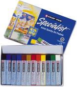 Sakura ESP12 12-Piece Cray-Pas Specialist Assorted Colours Oil Pastel Set