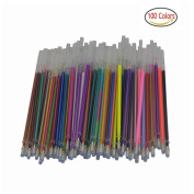 100 Gel Pen Refills-Glitter, Metallic, Classic, Pastel, Neon, Swirl, Glitter-Neon, Ideal for Adult Colouring Books, Scrapbooking, Crafts and Kids Projects