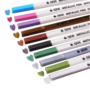 Metallic Marker Pens,Metallic Colour Painting Marker For drawing,Colouring In The Classroom Or Adult Colouring Books Set Of 10 Colours