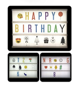 Ai-life 118Pcs Cinematic Light Box Coloured/Black Letters Symbols Glyphs Card Pack Special Decorative Cinema Signs for Cinema Light Box, Light Up Your Life