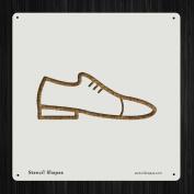 Shoe Attire Dress Footwear Formal Style 19611 DIY Plastic Stencil Acrylic Mylar Reusable