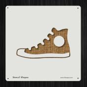 Shoe Allstar Basketball Converse Foot Style 19608 DIY Plastic Stencil Acrylic Mylar Reusable