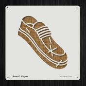 Shoe Boot Clothes Clothing Feet Style 19594 DIY Plastic Stencil Acrylic Mylar Reusable
