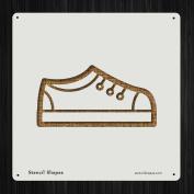 Shoe Footwear Kids School Shoes Style 19582 DIY Plastic Stencil Acrylic Mylar Reusable