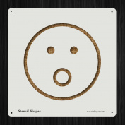 Shocked Emoji Emoticon Emotion Face Style 19577 DIY Plastic Stencil Acrylic Mylar Reusable