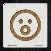 Shocked Emoticon Emotion Face Shockface Style 19574 DIY Plastic Stencil Acrylic Mylar Reusable