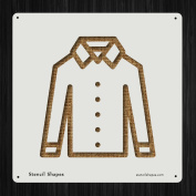 Shirt Line Icon Male Men Style 19561 DIY Plastic Stencil Acrylic Mylar Reusable
