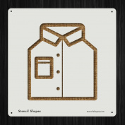 Shirt Style Oxford Menswear Fashion Style 19558 DIY Plastic Stencil Acrylic Mylar Reusable