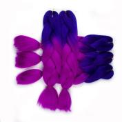 BeautyGrace Ombre Jumbo Braiding Hair Extensions 5Pcs/Lot Kanekalon Synthetic Ombre Braid Hair Expressions