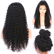 Friya 8A Brazilian 360 Lace Frontal Human Hair Wigs Deep Wave Curly Full Frontal Lace Human Hair Wigs Pre Plucked Hairline With Baby Hair For Americans Black Women