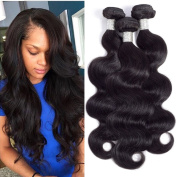 Grace Length Hair Brazilian Body Wave Bundles 20 22 24 60cm Natural Colour Unprocessed Virgin Human Hair Extensions 7A Body Wave Brazilian Hair Weave Bundles True to Length Thick End No Tangle