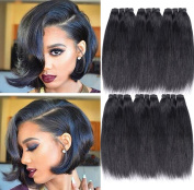 6 Bundles Straight Human Hair Brazilian Hair Extension 50g/pcs Natural Hair Unprocessed Virgin Weave