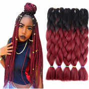 Two Tone Ombre Jumbo Braid Hair Extension 60cm 5Pcs/Lot 100g/pc Kanekalon Fibre for Twist Braiding Hair