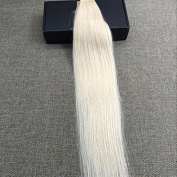 Full Shine 36cm 2.5g Per Pieces 20 Picecs Gule in Fashion Brazilian Skin Weft Hair Extensions for Long Hair Colour #60 Light Blonde Remy Brazilian Human Hair Extension 50 Gramme