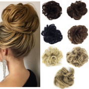 Haironline Synthetic Hair Scrunchy Wavy Curly Scrunchie Hairpiece Elastic Messy Hair Bun Updo