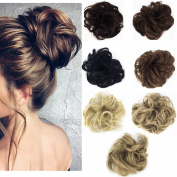 Haironline Ladies Synthetic Wavy Curly or Messy Dish Hair Bun Extension Hairpiece Scrunchie Chignon Tray Ponytail