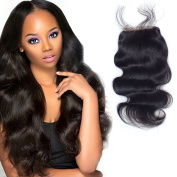 Brazilian/Malaysian/Indian/Peruvian Body Wave Unprocessed Human Hair Lace Closure With Baby Hair Free Part