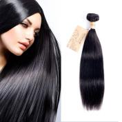 MONIKAHAIR Brazilian Virgin Human Hair 1 Bundle 100g Straight 7A Grade Remy Human Hair Weaves Extensions Natural Black