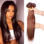 Fashion Lady Hair 8a Peruvian Straight Hair Weaves 3 PCS/Lot 18 20 60cm (Light Brown #4) Peruvian Pure Colour Silk Virgin Remy Straight Human Hair Bundles