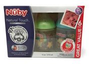 Nuby Natural Touch 270ml Infant Bottle 6 pack with Pacifier