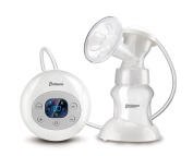 Haier Brillante Single Electric Breast Pump LED Display Breastfeeding Pump with 5oz/150ml Feeding Bottle,Powered by Charger,Usb Cable and AA Battery