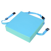 1Pc Adjustable Dining Chair Booster Cushion Kids Children Highchair Seat Pad With Buckle Straps