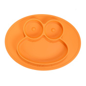 Lotoii Galaxy Mini Frog Silicone Placemat and Plate, 3 Compartments, Non-slip Waterproof, Suction, Roll up with Travel Bag, Fits Highchair Trays, Dining Tables, FDA Approved, for Babies, Kids