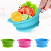 GaoCold Baby Kids Silicone Sucker Bowl Feeding Dishes Slip-Resistant Tableware BPA Free
