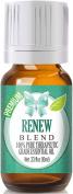Renew Essential Oil Blend 100% Pure, Best Therapeutic Grade - 10ml - Frankincense, Tea Tree, Rosemary, Lemon, Eucalyptus & Orange Swe